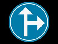 Verkeersbord SB250 D3b - Verplicht één van de pijlen te volgen