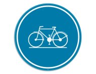 Verkeersbord SB250 D7 - Verplicht fietspad