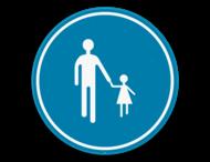Verkeersbord SB250 D11 - Verplichte weg voor voetgangers