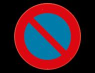 Verkeersbord SB250 E1 - Parkeerverbod