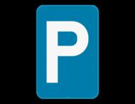 Verkeersbord SB250 E9a - Parkeren toegelaten