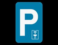 Verkeersbord SB250 E9a parkeerschijf - Parkeren beperkt in tijd, parkeerschijf verplicht