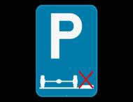 Verkeersbord SB250 E9g - Verplicht parkeren op de rijbaan
