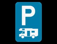 Verkeersbord SB250 E9h - Parkeren uitsluitend voor kampeerauto's