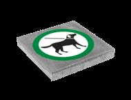 Symbooltegel 300x300mm - Aanduiding honden aan de lijn