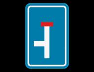 Verkeersbord SB250 F45L - Doodlopende weg, linkse doorgang