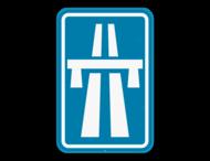 Verkeersbord SB250 F5 - Autosnelweg