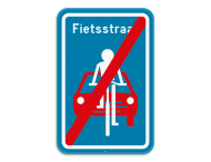 Verkeersbord SB250 F113 - Einde fietsstraat