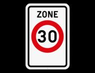 Verkeersbord SB250 F4a - Zone 30