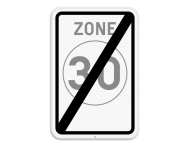 Verkeersbord SB250 F4b - Einde zone 30