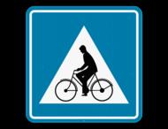 Verkeersbord SB250 F50 - Oversteekplaats fietsers