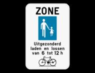 Verkeersbord SB250 F103 - Begin voetgangerszone