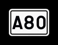 Verkeersbord SB250 F23b - Nummer van een autosnelweg
