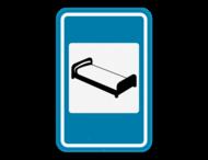 Verkeersbord SB250 F65 - Hotel of motel