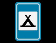 Verkeersbord SB250 F71 - Kampeerterrein