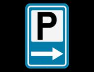 Verkeersbord SB250 F59 - Aankondiging van een parking