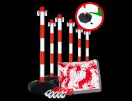 Kunststof kettingpalen + ketting en sluithaken - Pakketprijs