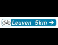 Verkeersbord SB250 F34b1 -Aanbevolen reisweg voor bepaalde weggebruikers - rechts + picto