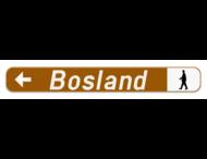 Verkeersbord SB250 F34c1 - Aanduiding naar een toeristische bestemming - links + picto