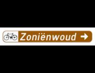 Verkeersbord SB250 F34c1 -Aanduiding naar een toeristische bestemming - rechts + picto