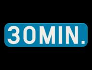 Verkeersbord SB250 G type VIIC - Aanvulling op verkeersborden voor stilstaan en parkeren