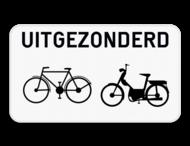 Verkeersbord SB250 M3bis - Uitgezonderd fietsers en bromfietsers