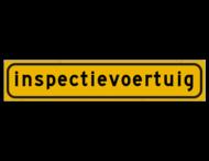 Autobord 500x100mm reflecterend geel FLUOR