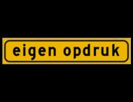 Autobord 800x160mm geel FLUOR met eigen tekst