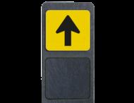 Bermpaal met richtingsbordje pijlverwijzing reflecterend 119x109mm