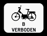Verkeersbord SB250 M7 - Verbod voor bromfietsen klasse B