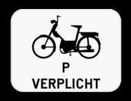 Verkeersbord SB250 M13 - Verplichting voor speed pedelecs