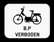 Verkeersbord SB250 M16 - Verbod voor bromfietsen klasse B en speed pedelecs