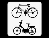 Verkeersbord SB250 M8 - Enkel voor fietsers en bromfietsers