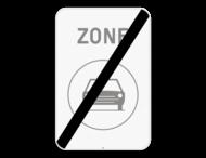 Verkeersbord SB250 ZC5/ - Einde zone verboden toegang voor motorvoertuigen met meer dan 2 wielen