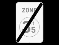 Verkeersbord SB250 ZC21/ - Einde