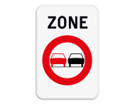 Verkeersbord SB250 ZC35 - Zone verboden inhalen