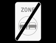 Verkeersbord SB250 ZC35/ - Einde zone verboden inhalen