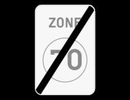 Verkeersbord SB250 ZC45 - Einde zone met een snelheidsbeperking