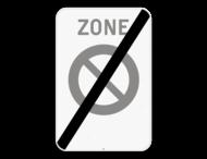 Verkeersbord SB250 ZE1/ - Einde zone parkeerverbod