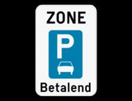 Verkeersbord SB250 ZE9aT - Zone parkeren uitsluitend voor auto's