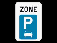 Verkeersbord SB250 ZE9a - Zone parkeren uitsluitend voor auto's
