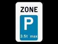 Verkeersbord SB250 ZE9T - Zone parkeren voor voertuigen met een uitzondering