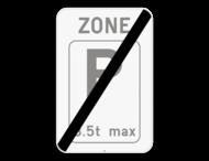 Verkeersbord SB250 ZE9T/ - Einde