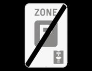 Verkeersbord SB250 ZE9a parkeerschijf/ - Einde