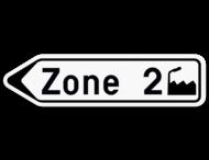 Verkeersbord SB250 F33a - Bewegwijzeringsbord op afstand Links