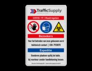 Veiligheidsbord - COVID-19 maatregelen in huisstijl +iconen - 01