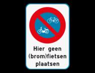 Parkeerverbod (brom)fietsen + eigen tekst