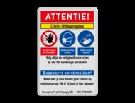 Veiligheidsbord - COVID-19 maatregelen met iconen - 02