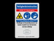 Veiligheidsbord - COVID-19 maatregelen in huisstijl +iconen - 02
