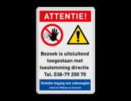 Veiligheidsbord - Geen toegang voor bezoekers